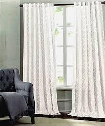 tahari metallic silver damask medallions window panels drapes set