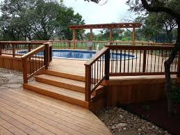 wrap around deck plans 126 best above ground pool decks images on backyard