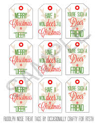 rudolph nose treats u0026 printable gift tags reasons to skip the