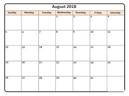 printable calendar 2018 august august 2018 printable calendar template free printable calendar 2018