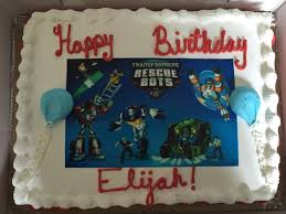 transformers rescue bots 1 edible cake or cupcake topper edible to find rescue bots birthday cakes found a local bakery to