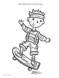 skateboard coloring pages getcoloringpages com