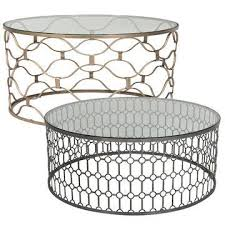 10 ideas of all round glass and metal coffee table