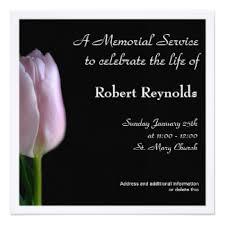 Funeral Service Invitation Memorial Service Cards Invitations Greeting U0026 Photo Cards Zazzle