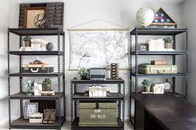 decorate office shelves office progress industrial shelving bless er house