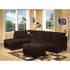 Corduroy Sectional Sofa Acme 55975 Connell Sectional Sofa With Pillows