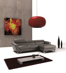 Modern Italian Leather Furniture Sparta Mini Italian Leather Sectional Right Facing Chaise