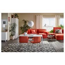 Ikea Leather Chair by Bernhard Chair Chrome Plated Mjuk Orange Ikea