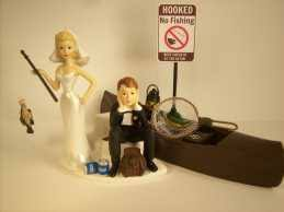 and chain cake topper fishing wedding cake toppers fish fishing wedding cake