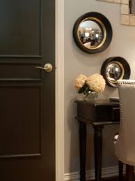 black walls transitional entrance foyer benjamin moore