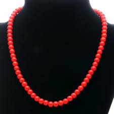 large red bead necklace images Art deco red plastic bead necklace vintageanelia on artfire jpg