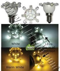 e12 low profile 12 leds light bulb 120v a c household led