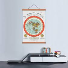 Detailed World Map Standard Time by Amazon Com Flat Earth Map Gleason U0027s New Standard Map Of The