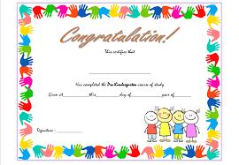 preschool graduation certificate pre kindergarten certificate template 1 best 10 templates