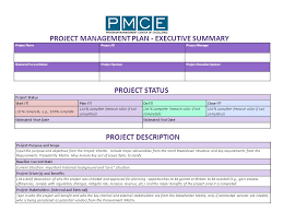 project management plan project management plan executive