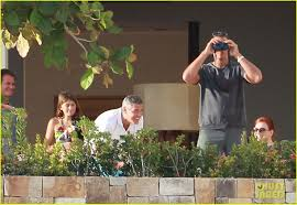 george clooney cabo with stacy keibler photo 2613142 alex