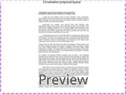 dissertation proposal layout coursework service