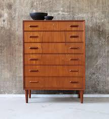 mobilier vintage scandinave commode vintage scandinave en teck 1960 design market