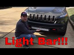 2015 jeep cherokee light bar car guy11 on wheelwell auxbeam 22 quot led light bar install