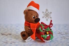 nicolas ooak needle felted christmas teddy bear vitalina craft