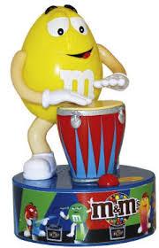 m m rock bongo drummer dispenser