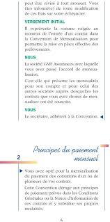 siege social gmf assurance convention de mensualisation pdf