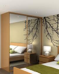 Full Wall Bedroom Cabinets Bedroom Furniture Modern Wooden Wardrobe Cabinet Mirror Sliding