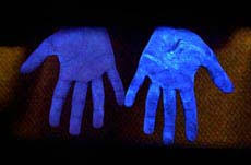 black light and germs clean hands in a new light