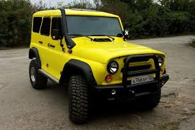 uaz yellow uaz hunter from russia with love with snorkel gka 4x4