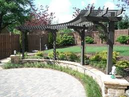 The  Best Curved Pergola Ideas On Pinterest Backyard Kitchen - Backyard arbor design ideas