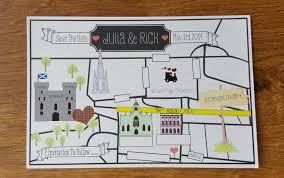 wedding invitations edinburgh edinburgh map save the date wedding blossom tailor made
