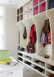 shoes rack design entry traditional with blue bin backpack storage