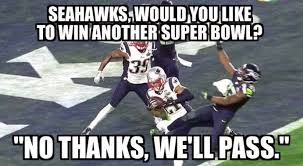 Funny Seahawks Memes - seahawks pass on super bowl dr heckle