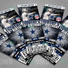 sports invites dallas ticket sports party cowboys invitations
