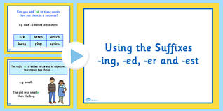 prefixes and suffixes early years eyfs words and page 1