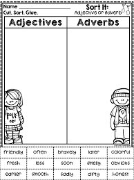 Adjectives And Adverbs Worksheet More Than Math By Mo Worksheet Wednesday Linky Freebies Galore