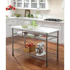 marble top kitchen island cart kitchen islands carts large stainless steel portable kitchen white