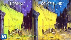 mobile app shows vincent van gogh could have been color blind