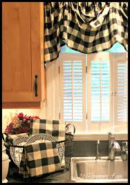 Black And White Checkered Curtains A Few New Items For My Kitchen Black And White Buffalo Check