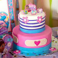 doc mcstuffins birthday cake doc mcstuffins fondant cake how to party city