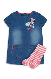 Minnie Mouse Clothes For Toddlers Baby Denim Minnie Mouse Dress Moda Pinterest Minnie