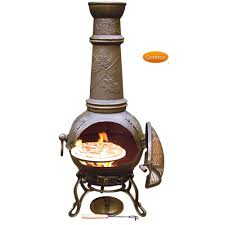 Chiminea Outdoor Fireplace Clay - furniture using fabulous chiminea for patio furniture ideas