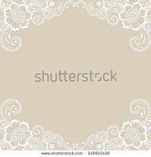 white flower frame lace ornament vector illustration decupage