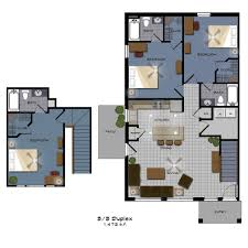 college floor plans 3 3duplex jpg