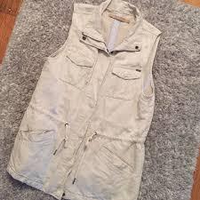 89 off max studio tops max jeans linen safari vest from