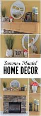summer home decor ideas summer mantel decor ideas pink and teal accents