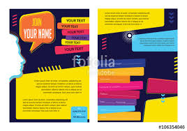 social media brochure template business infographic concept vector layout for presentation