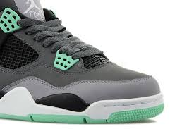 green glow 4 308497 033 air 4 retro grey green glow cement grey
