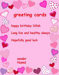 Birthday Card Sender Exle Of A Greeting Card Wblqual Com