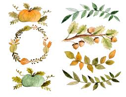 thanksgiving leaves clipart watercolor fall clipart clipartxtras